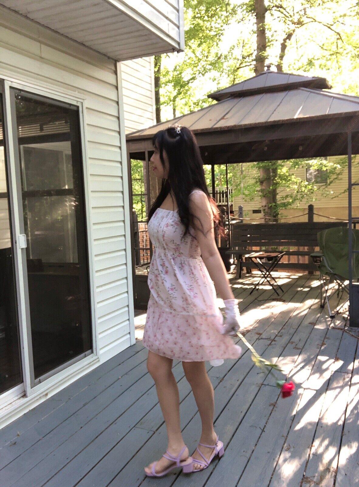 ✨VTG Gunne Sax Pink Style Calico Dress❤️ - image 6