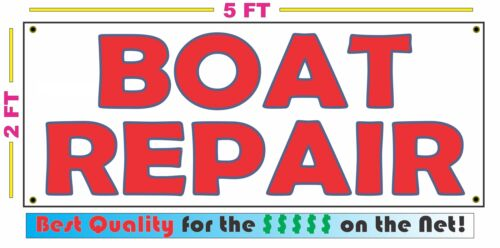 BOAT REPAIR All Weather Banner Sign NEW High Quality XXL Lake Dock Mechanic