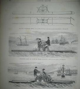 ALGERIE-ORAN-EXPEDITION-COLONIALE-VELOCIPEDE-MARIN-EGYPTE-ISMAILIA-GRAVURES-1869