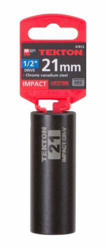 6-Point TEKTON 47812 1//2-Inch Drive by 21 mm Deep Impact Socket Cr-V