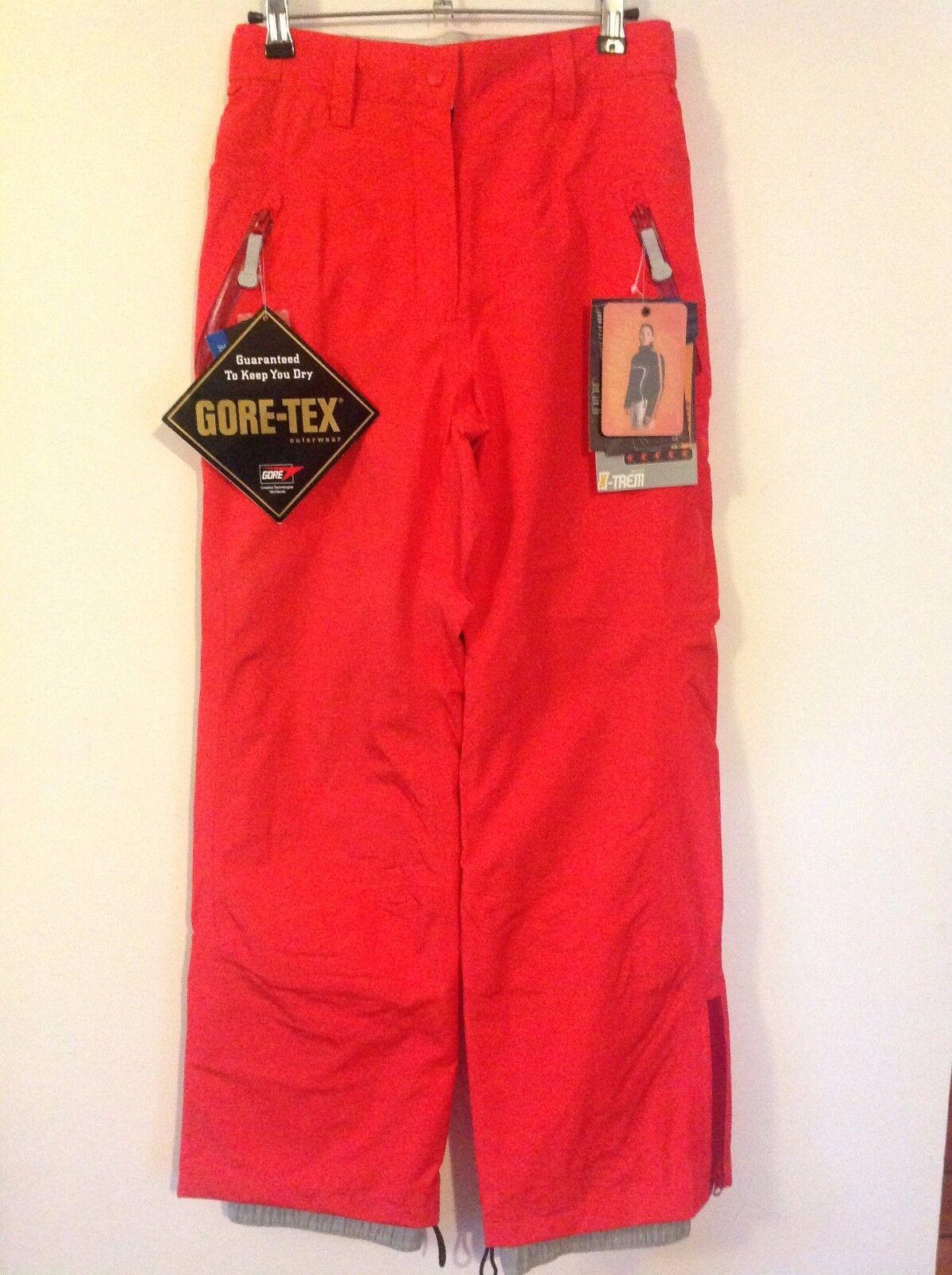 Sun Valley Series X-Trem Gore-Tex Red Ski Snowboard Trousers   S      BNWT
