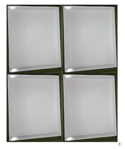 4 X Scatole bianche di visualizzazione per ACTION MAN VINTAGE schede 40th di dimensioni 360 x 296 x 37mm