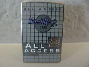Hard Rock Cafe All Access V 2.0 Lapel Hat Pin Restaurant Bar Casino Music USA