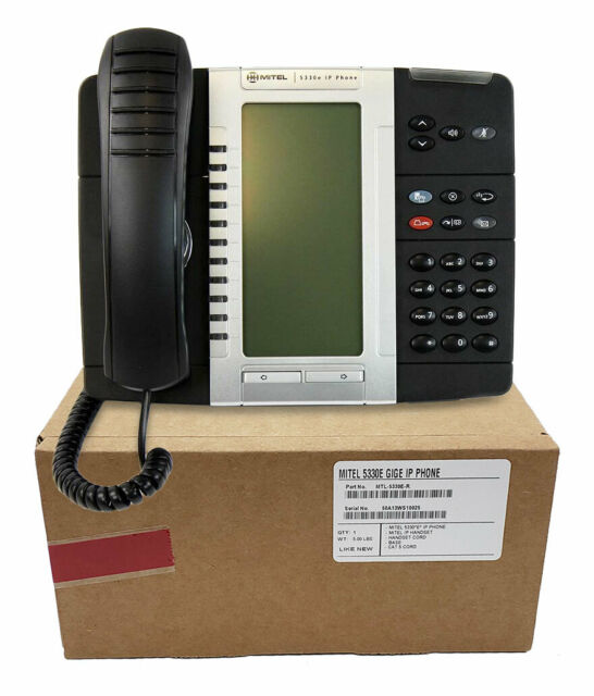 Mitel 5330e IP Phone Large Backlit Display ~ Part# 50006476  NEW