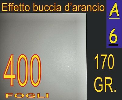 400 Fogli A6 Gr 170 Carta Effetto Buccia D'arancio Foto Ruvida Stampanti Laser