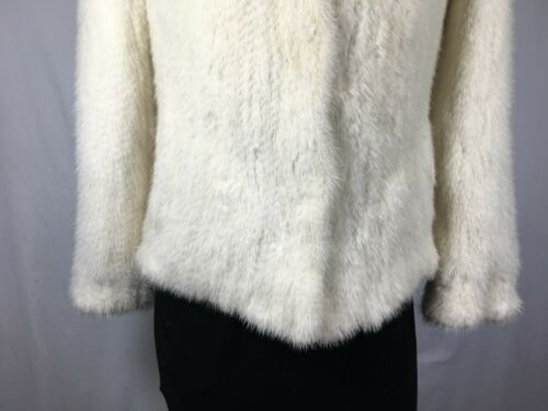 Awesome Rare Fur Jacket Warm U Lady Natural S Free Knitted Shipping White Mink Bw6qdUwr
