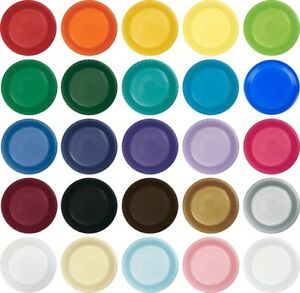 Image is loading Small-7-034-Plastic-Disposable-Plates-Vibrant-Solid-  sc 1 st  eBay & Small 7\