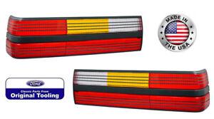 1984-1986 Mustang SVO, 1993 Cobra Taillights w/ Black Stripes Pair LH RH