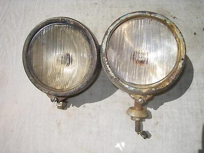 Vintage Grey Fergy Headlights Lamps for Ferguson TEA 20 TE 20 Tractor 35 Light
