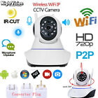 Wireless WiFi 720P Pan Tilt Network Security CCTV IP IR Camera Night Vision Cam
