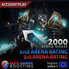 WoW Arena Boost 2vs2 0 - 2000 Rating / World of Warcraft Legion 2v2