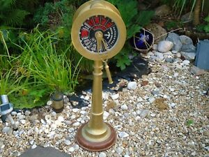Brass-Ships-Telegraph-Engine-Room-Post-95-CM-Tall-Vintage-Nautical-Captain-A