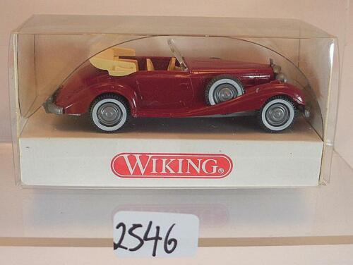 Wiking 1//87 n 835 01 20 MERCEDES BENZ 540 K Cabrio Rosso OVP #2546