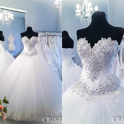 Weiß Brauch Ballkleider Brautkleid Abendkleid Brautjungfer Hochzeitskleid Prom