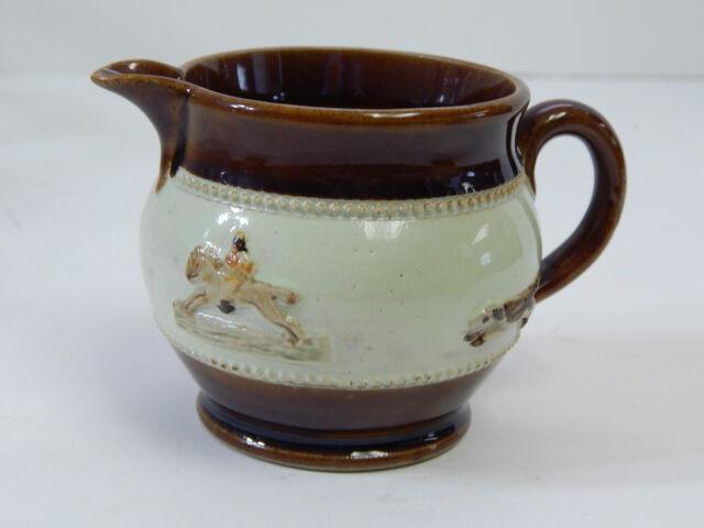 1930 S Bourne Denby Derby Creamer Fox Hunting Scene Brown Green Glazed Pottery For Sale Online Ebay