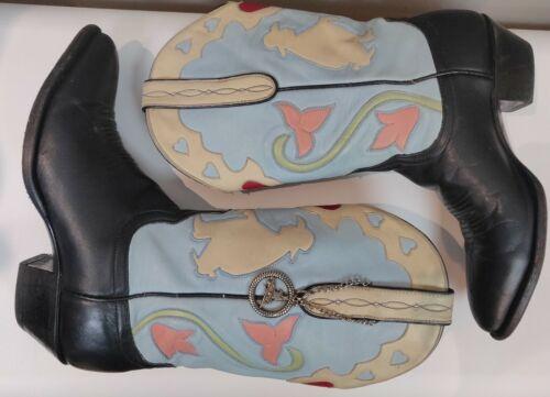 Larry Mahan El Paso Vintage black/blue/pink Heart