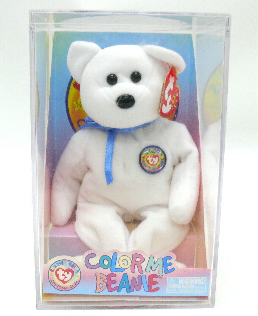 RARE, Never Been Opened 2002 TY  color Me  Beanie Baby (Includes Case & Markers)