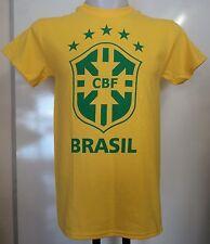 BRAZIL BOYS YELLOW CREST TEE SHIRT SIZE BOYS 12/13 YEARS OFFICIAL MERCHANDISE