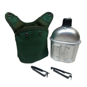 1-Liter-Army-Military-Aluminum-Water-Bottle-Canteen-With-Cup