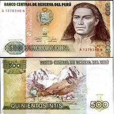 PERU 500 INTIS UNC # 534