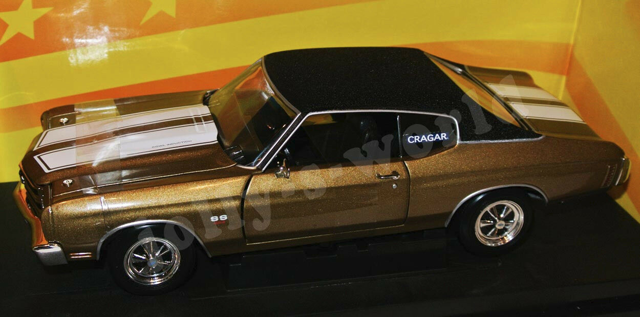 ERTL 32994 1970 CHEVY CHEVELLE 454 Crager-OR vinyle top - 1 18 Lim. Hobby Ed.