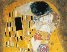 The Kiss by Gustav Klimt - Scarlet Quince Fine Art Counted Cross Stitch Chart