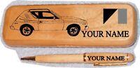 Amc Gremlin X Maple Wood Pen & Case Engraved
