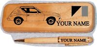 Amc Gremlin X Maple Wood Pen & Case Engraved