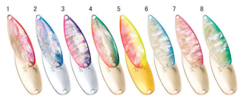 FOREST MIU 8g Awabi Abalone Trout Spoons color variation