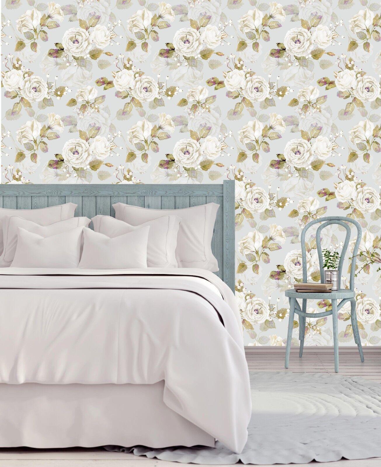 3D White Flower 871 Wallpaper Mural Paper Wall Print Indoor Murals CA Summer