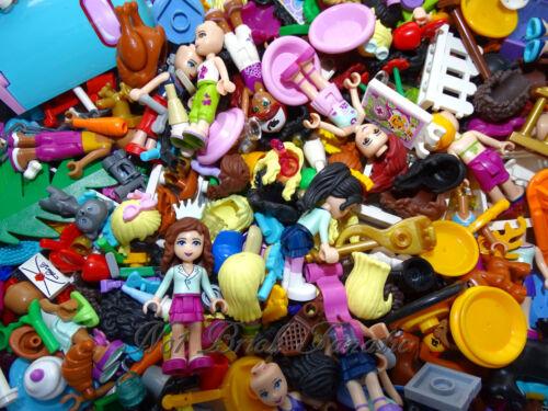 LEGO FRIENDS 1 x MINIFIGURES /& 5 X RANDOM ACCESSORIES PARTS  FREE P /& P