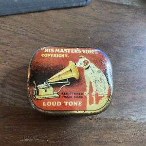 Vintage Gramophone Needle Tin His Master's Voice  Loud Tone Nadeldose HMV11