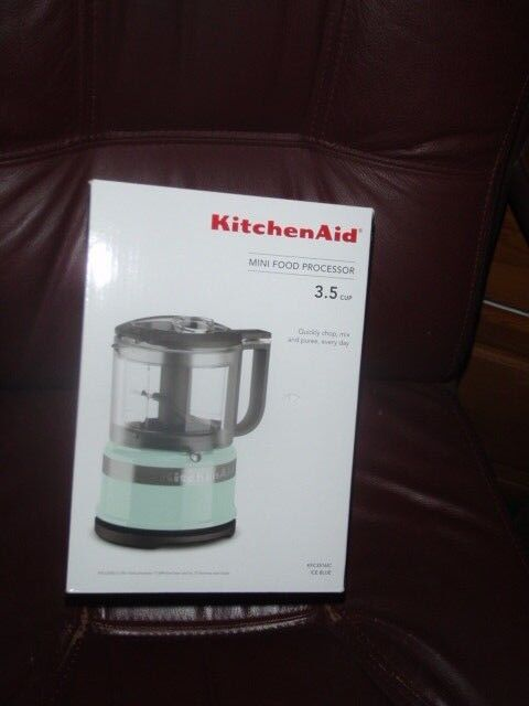 New in Box KitchenAid 3.5 Cup Mini Food Processor Chopper ICE blueE