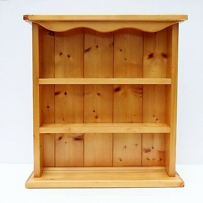 Vintage Style Pine Wall Shelves Display Unit Wall or Free-Standing