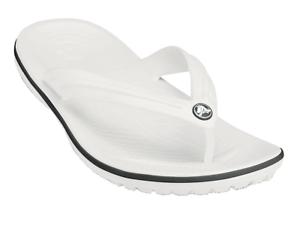 Infradito-Crocs-crocband-flip-uomo-donna-bianco-in-gomma-per-l-039-estate-e-da-mare
