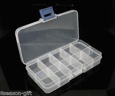 Clear Beads Display Storage Case Box 132x72x23mm