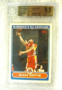 Blake-Griffin-RC-2007-Topps-McDonald-039-s-All-American-RC-GEM-BGS-9-5-Cippers-F-RC