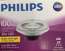 PHILIPS 458570 LED Lamp, AR111, 20W, 3000K,25deg.,GX5.3 G1805338 ( 6- PACK)