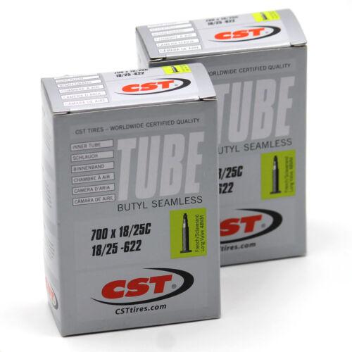 2x CST Rennrad Schlauch 700C Silver 700x18-25C 18//25-622 Sclaverand Ventil 48mm