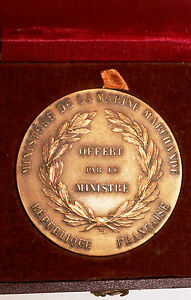 Medal Offer By Le Minister de La Merchant Navy IN Box Signed (111)