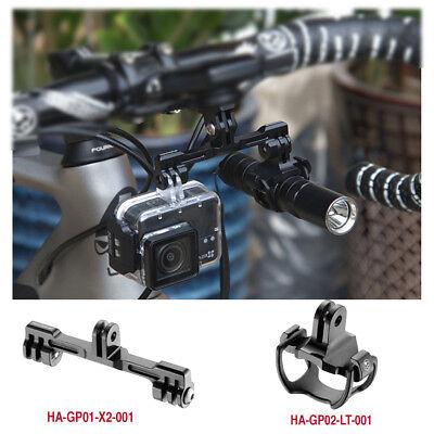 FOURIERS HA-GP002 Bike Light Mount Holder for Garmin Bryton Computer Mounnt /& Gopro Adapter Cateye Alloy 6061-t6