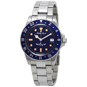 Mathey-Tissot-Mathey-Vintage-Automatic-Blue-Dial-Men-039-s-Watch-H900ATBU