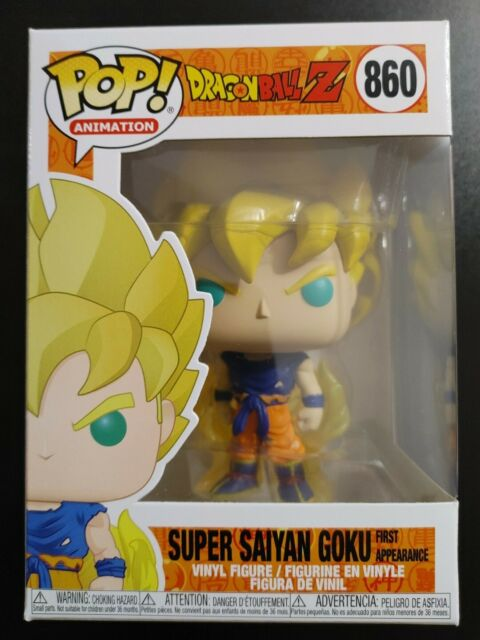 Funko Pop Super Saiyan Goku #860 First Appearance Drangon Ball Z