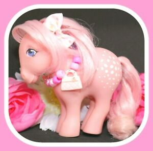 My-Little-Pony-MLP-G1-Vtg-Cotton-Candy-Collector-039-s-Pose-Pink-Earth-Pony