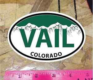 Vail Colorado Green Mountain Oval Sticker State Ski Snowboard