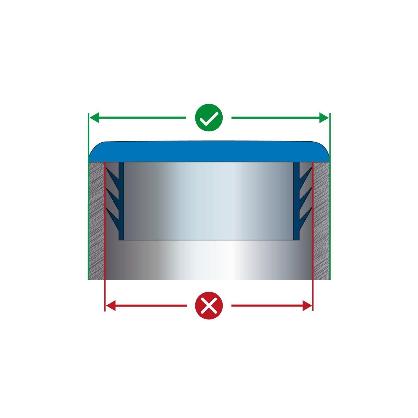 15x25 mm Rechteckrohr Stopfen Lamellenstopfen Rohrstopfen rechteckig Rechteck