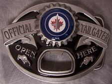 NHL Pewter Belt Buckle Siskiyou Tailgater Winnipeg Jets NEW MADE IN USA
