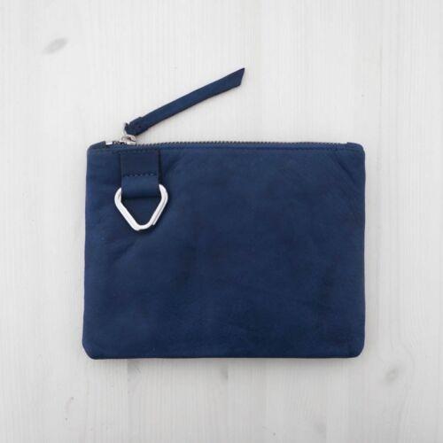 HOF115 /& Other Stories Tasche beutel leader blau Mini leather purse navy