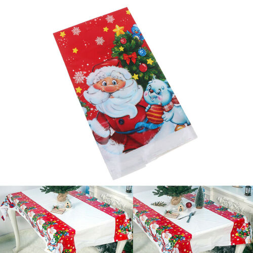 110*180cm PVC Table Cloth Christmas Tablecloth Rectanguler Printed Table Cove WD