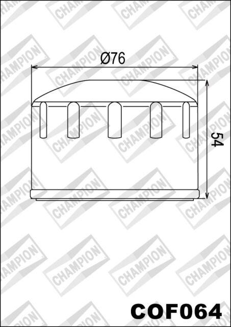 COF064 Filtro De Aceite CHAMPION BMWR1200 RT 90 Years Special12002014